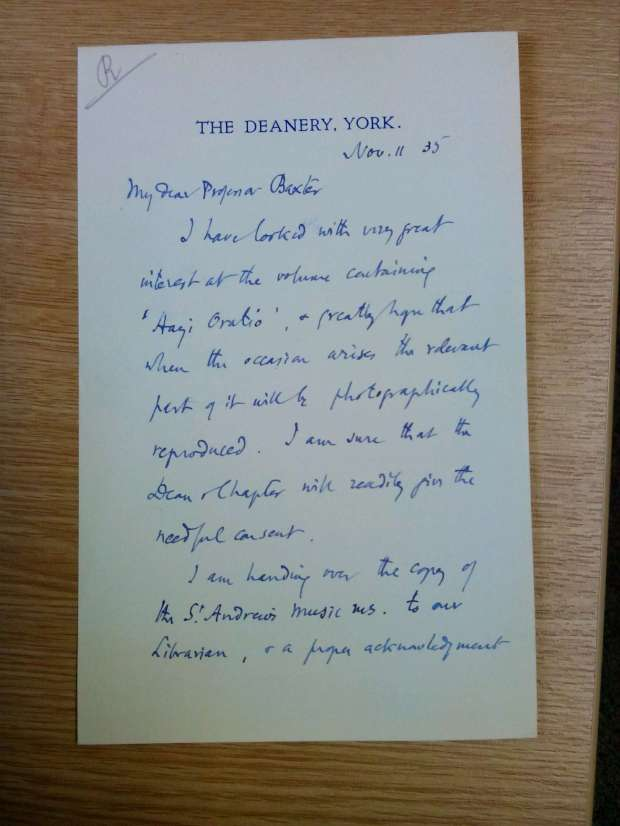 Baxter letter